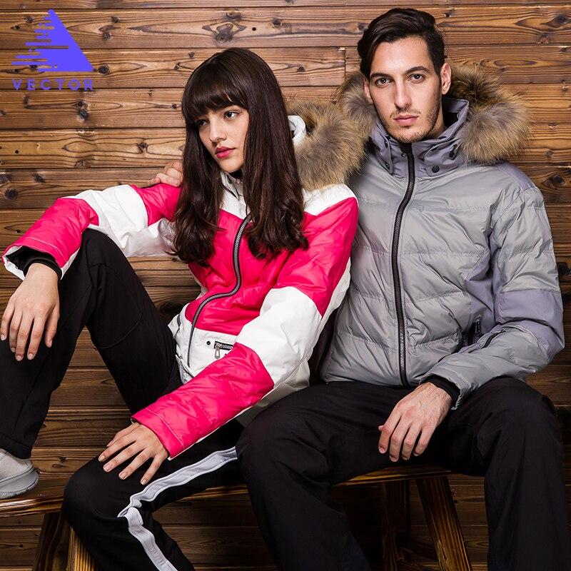 Prix pour Vector ski vestes pour hommes femmes étanche snowboard veste coupe-vent manteau à capuchon amateurs de ski vêtements avec fourrure hxf70004