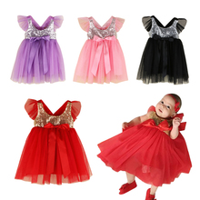 Newborn Baby Girls Infant Dress&Clothes Summer Kids Party Birthday Outfits 1-4 Years Set Christening Gown Dress