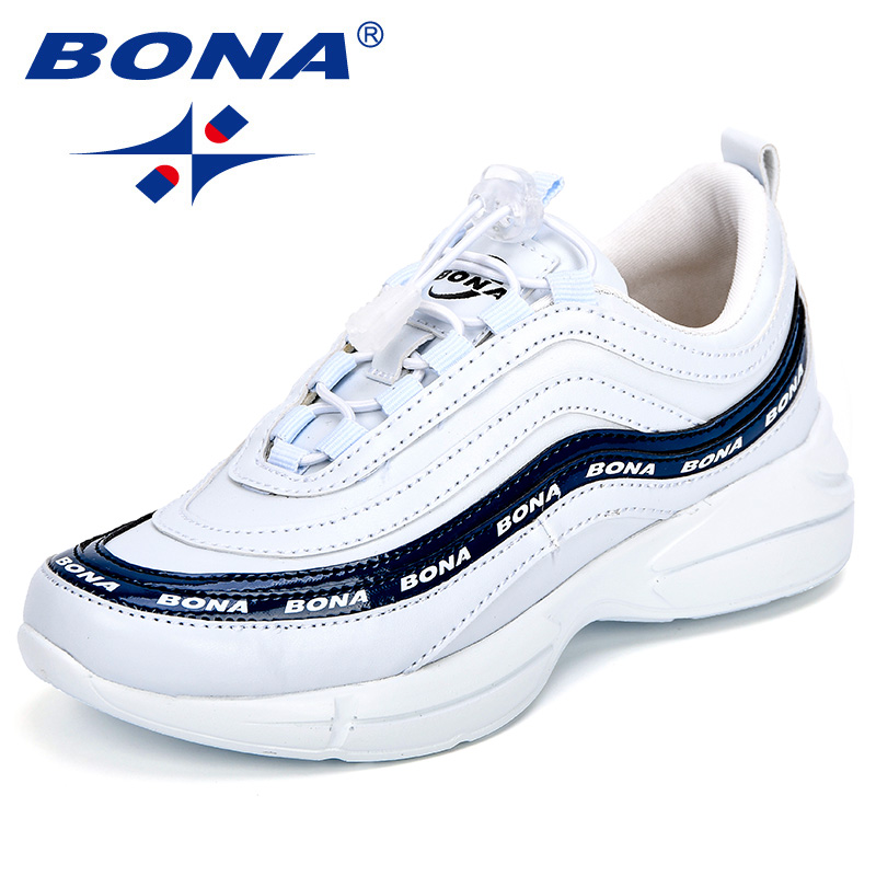 BONA New Arrival Popular Style Children Sneakers Synthetic Mixed Color Girls Leisure Shoes Elastic Band Boys Casual Shoes Light