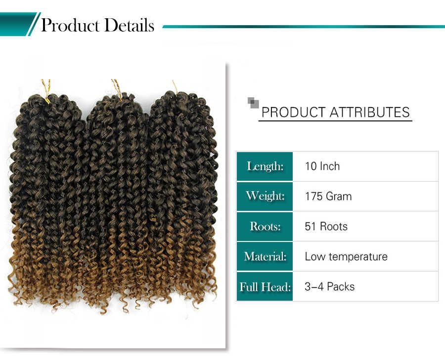 Lockige Häkeln zöpfe Niedrigen Temperatur Faser 10 Zoll 3 strands/pack Kann Re-modell Synthetische Haar Zöpfe