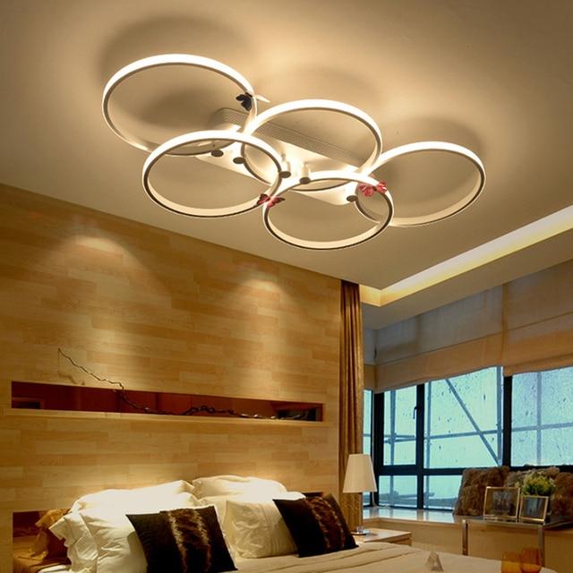 led beleuchtung wohnzimmer moderne acryl ringe deckenleuchten leuchte schlafzimmer lampe lamparas de techo plafoniere indirekte furs w