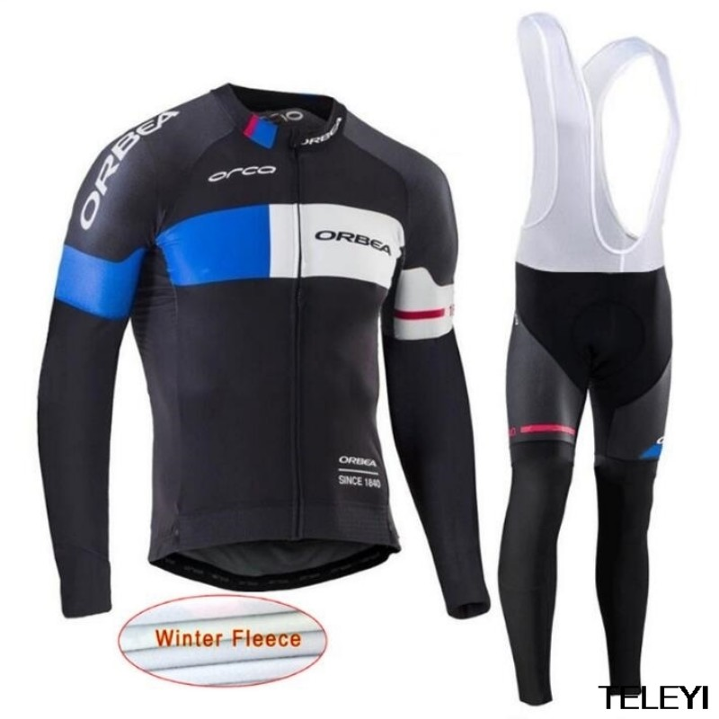 Orbea Pro Brand Winter Thermal Fleece Cycling Jersey Set Maillot Rock Bike Bicycle Wear MTB Cycling Clothing Ropa Ciclismo L2104 цена 2016