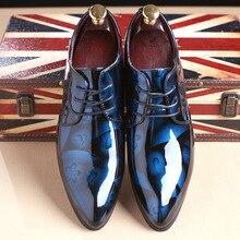 Британский Мужская обувь платье Vogue большой ярдов Обувь кожаная для девочек для Для мужчин Топ формальный банкет Обувь кожаная для девочек Danc плоской подошве кроссовки