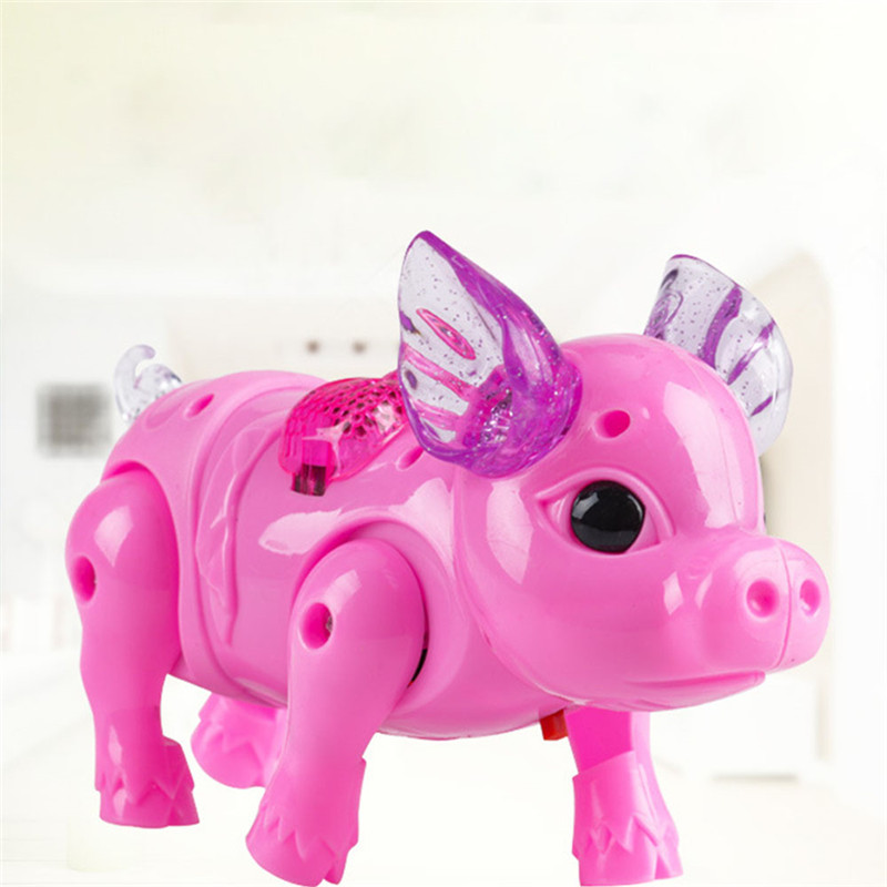 Children's Electric Toy Little Pigs Audio Musical Shakable LED Glow Piggy Toy Children's Educational Toys