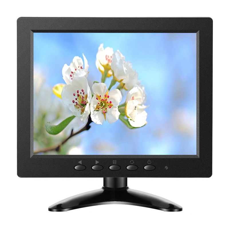 ZHIXIANDA cheap lcd monitor 8 inch 1024*768 cctv security monitor with VGA HDMI USB BNC AV speakers 15 cctv security monitor lcd hdmi bnc vga av usb port audio video 1024 768