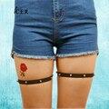 Women's Sexy Fashionable Leg Garter Elastic Body Cage Harness Leg Bondage Belt Thigh Rivet Suspenders Strap P0002