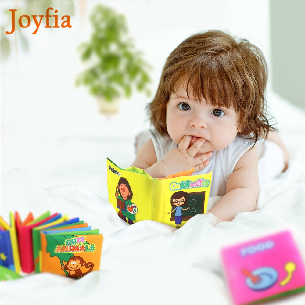 Kids Colourful Cartoon Cloth Book Animal Soft Baby Learning Educational Toy Story Intelligence Developing Newborn Baby Toys !