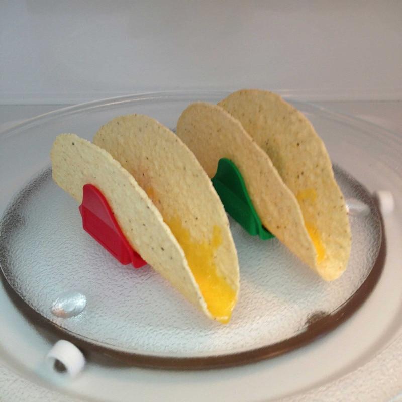 12 шт./компл. держатели Тако Мексиканская форма еды волны стойка кухонные инструменты для приготовления пищи