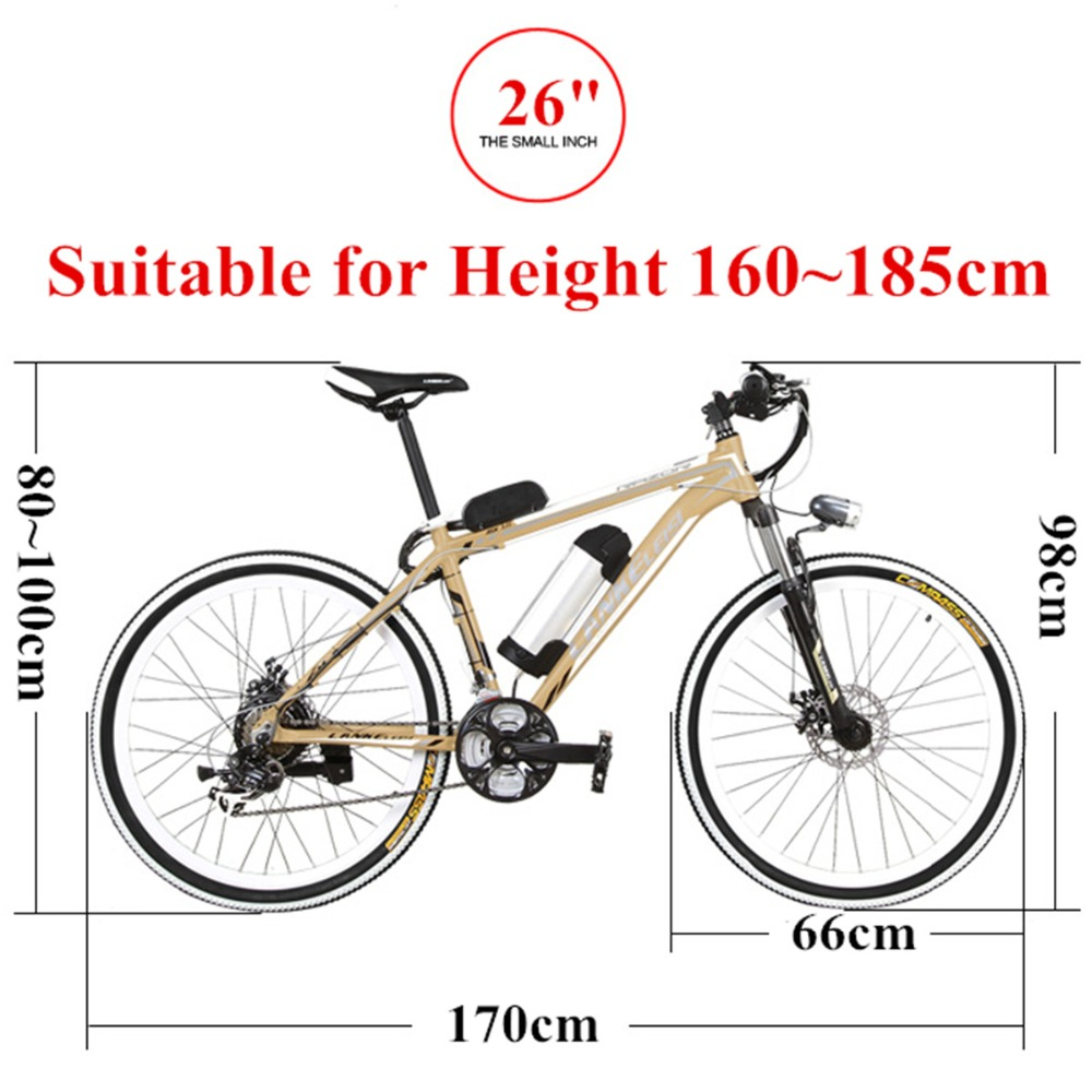21 Speed, 26 inches*1.95, 36/48V, 240W, Aluminum Alloy Frame ...