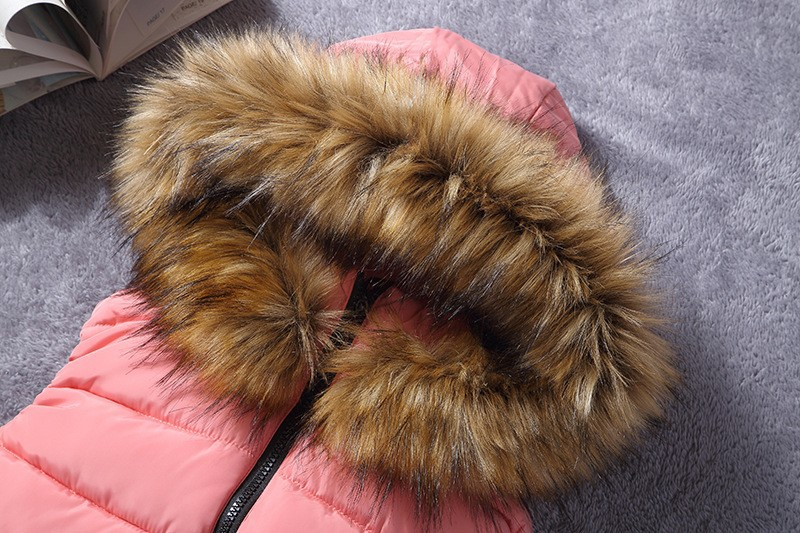 down vest with fur 0W0125 pink-2