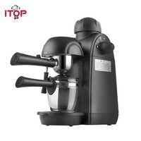 ITOP Elettrico 5Bar Macchine per il Caffè Cappuccino Macchina Per Caffè Espresso 2 Tazze di Latte Automatico Foam Maker 110V 220V