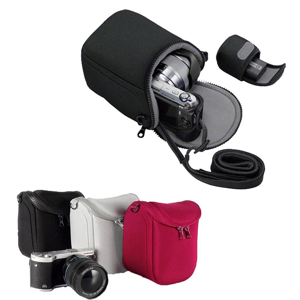 Camera Case Bag for <font><b>Panasonic</b></font> DMC GF3 GF5 GF6 GF7 GF8 GF9 GF10 GX7 GX80 GX85 <font><b>Lumix</b></font> GX8 <font><b>LX100</b></font> LX7 LX5 LX3 GM1 GM2 GM5 With Strap image