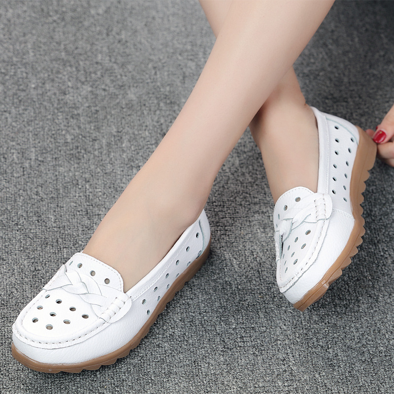 Krasovki Single Shoes Women Summer Women Shoes Flat Bottom Dropshipping Casual Small White Shoes Soft Bottom Slip on Bean Shoes in Women 39 s Flats from Shoes