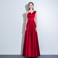 Sexy Sleeveless Party Dress Women Elegant Asymmetrical Off Shoulder Long Satin Dresses Female Slim A line Maxi Dress Vestidos