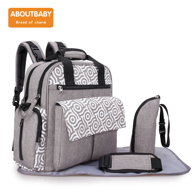 aboutbaby waterproof baby diaper backpack infant stroller storage big capacity mother maternal bag diaper bag with changing pad dudou angel love ho maternal and infant shops 0147