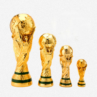 High Quality 2018 World Cup In Russia Football Trophy Resin Replica Trophies Model Best Soccer Fan