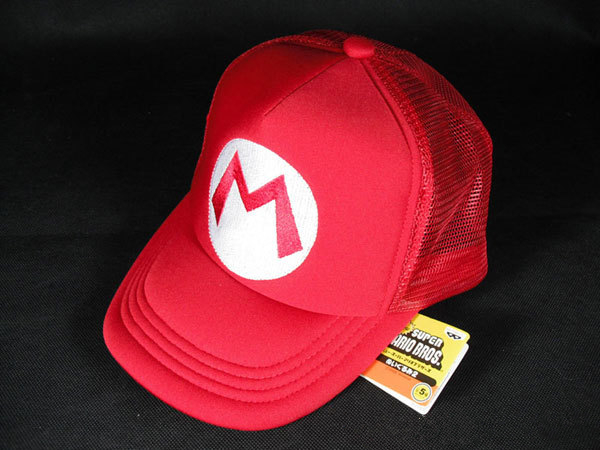 Super Mario Bros Hat Cartoon Brand Baseball Cap Mesh Red Mario Anime Cosplay Costume Hat Summer Bone Adjustable Letter M Hats