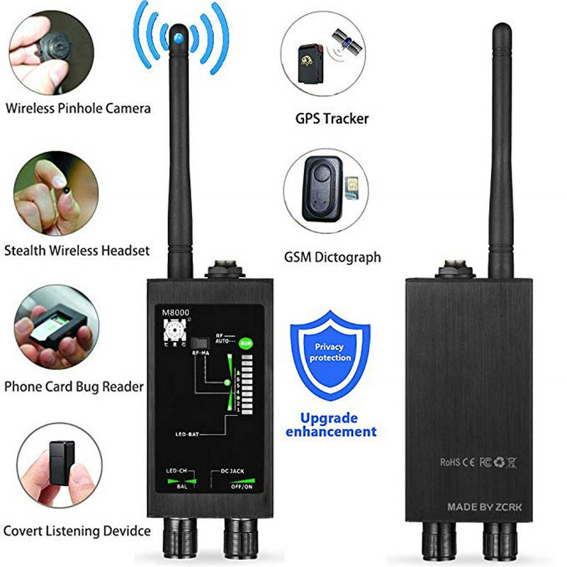 1MHz-12GH Radio Anti-Spy Detector FBI GSM RF Signal Auto Tracker Detectors GPS Tracker Finder Bug with Long Magnetic LED Antenna hidden magnet sensor detector 1mhz 12ghz wireless spy signal detectors rf bug detector scanner spy gps tracker finder