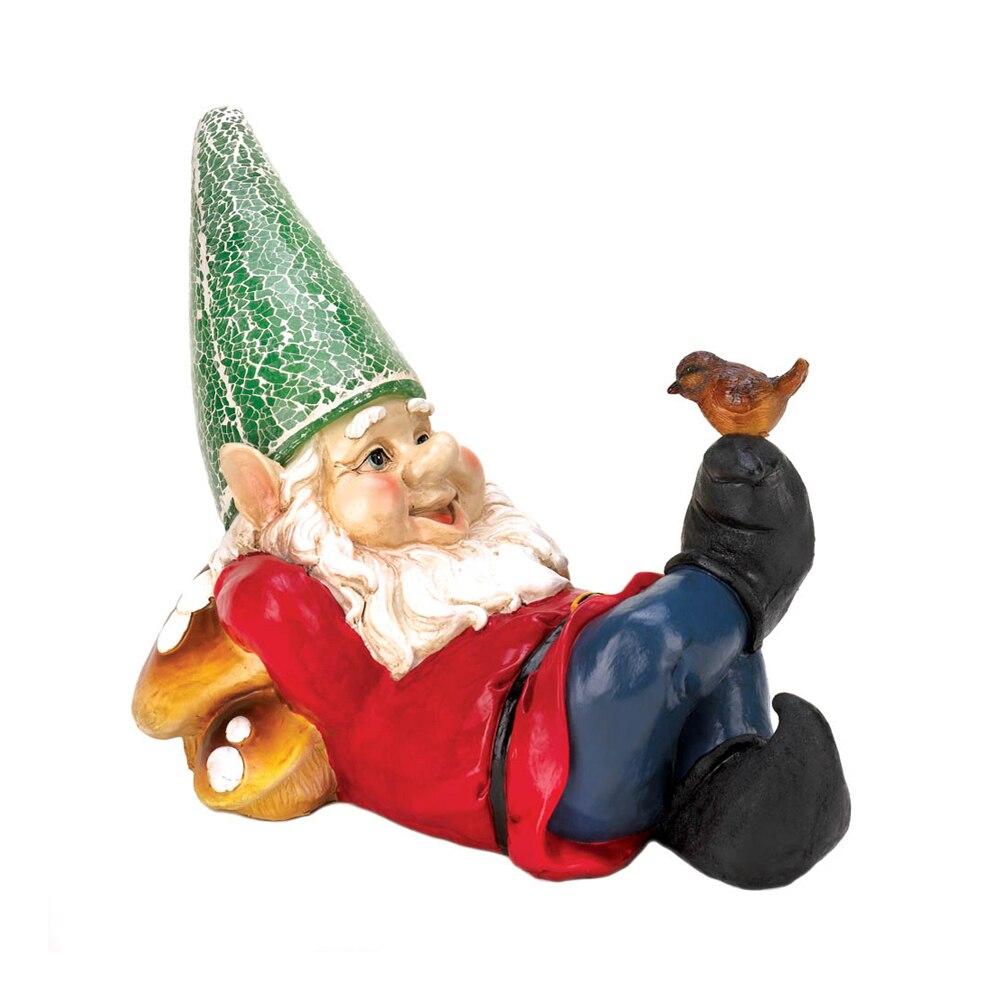 Koehler Home Decorative Lazy Gnome Solar Garden Statue kappa дуги безопасности для fz6 fz6