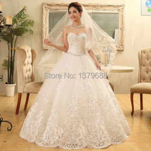 Aliexpress compre 2015 new romantic princess wedding dresses 2015 new romantic princess wedding dresses custom made bridal gowns beaded rhinestone bride dresses junglespirit Images