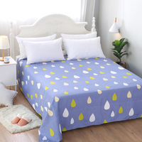 New Flower Fruit Print Fitted Sheet with Elastic 100% Polyester Fitted Bed Sheet Twin Full Queen Size Mattress Cover Protector