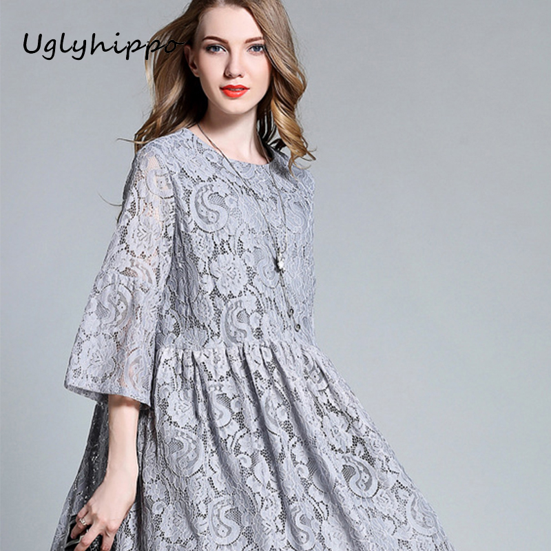 Spring Summer New Pregnant Woman Maternity Dresses two colors Lace Beauty Pregnancy Clothes Plus Size Girls Dress M1MO97