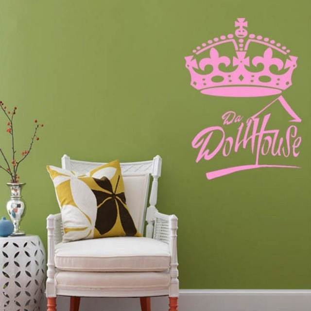 crown custom text vinyl wall decals wall quotes art sticker