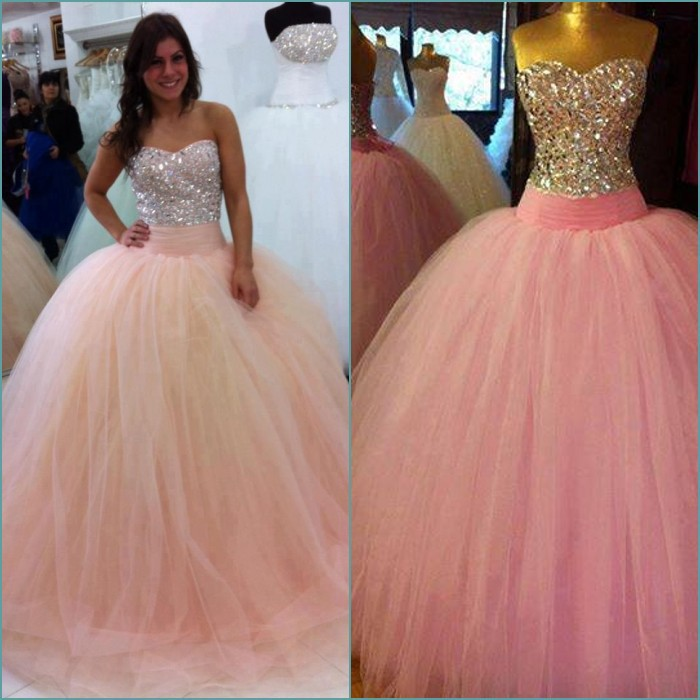 Hot Sexy Beading Sweetheart Brides Tulle Crystal Vestido De Festa 2018 Long Ball Gown Pink Prom Mother Of The Bride Dresses