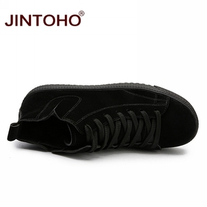 Image 4 - JINTOHO Winter Men Shoes Fashion Brown Leather Boots For Men Casual Snow Boots Cheap Men Winter Boots Casual Leather Shoes