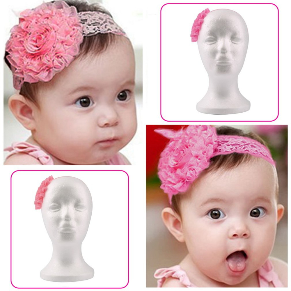 Hot Sale Baby Girl Pink Elastic Hairband Children Hair Wear For Kids Head Band Flower Headband Baby Hair Accessories