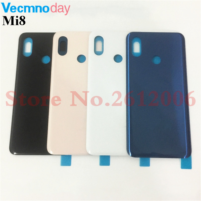 Original New For Xiaomi Mi8 Mi 8 Spare Parts Battery Back Cover Door 3D Glass Phone housing case battery cover