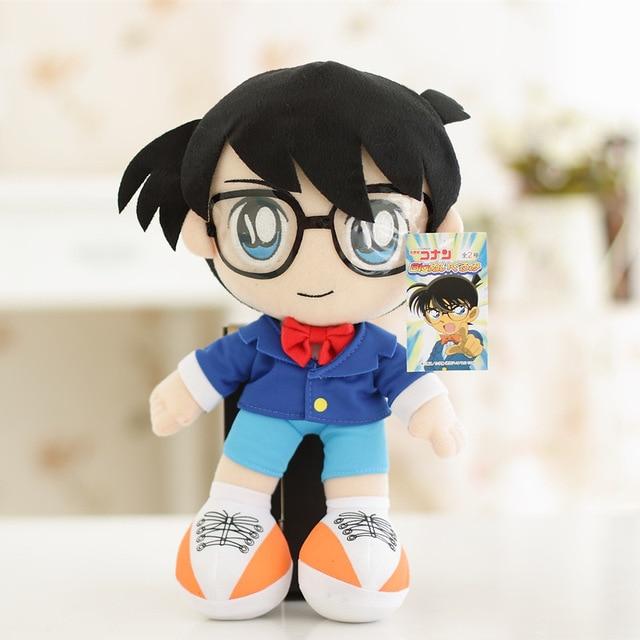 32 cm Anime Japonês Detective Conan Case Closed Edogawa Conan Plush Boneca Brinquedos de Pelúcia Macia Recheado de Brinquedo de Presente para As Crianças crianças