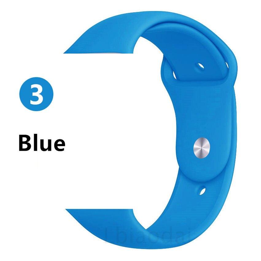 Ремешок для Apple Watch 38 мм 42 мм iWatch 4 ремешка 44 мм 40 мм спортивный силиконовый ремень браслет Apple watch 5 4 3 2 Аксессуары для ремешка - Цвет ремешка: Blue