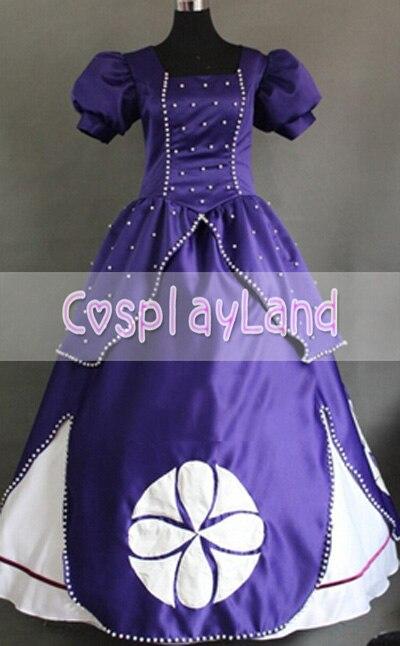 София первое платье принцессы для косплея костюм для взрослых женщин София первая Принцесса праздничное платье костюм для косплея