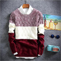 2017 winter pullover sweater brand knitting long sleeve O-neck Slim Korean fashion clothes men sweater