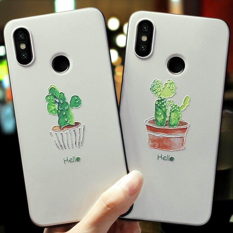Xiaomi mi 9 Explorer Case Cacti Plant Matte Cover For Xiaomi mi 8 explorer mi8 se Lite Redmi Note 7 note7 Back Cover slim soft