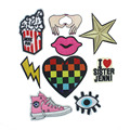 8*8cm Gesture Embroidery Patches For Clothing Applique Embroidery Diy Bags Sweater Accessories Cool Patches Sticker Clothes