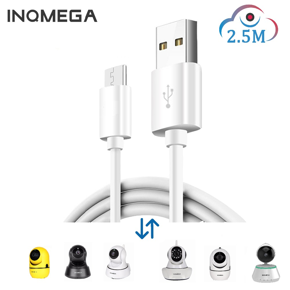 INQMEGA 2.5M Length Power Cord For Amazon Cloud Storage Wifi Cam Home Security Surveillance IP Camera For APP-YCC365