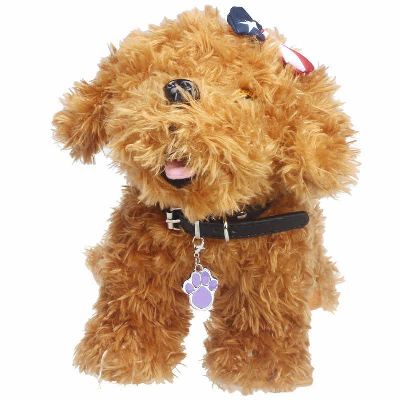 Resistente al agua y duradero forma de la huella de la aleación mascota pequeño perro cachorro gato Collar de seguridad colgante moda mascota joyería de la mejor marca 2019 nuevo