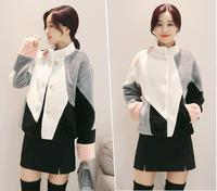 New Autumn And Winter Fur Coat Female Short Paragraph Fight Color On Both Sides To Wear