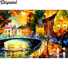 Dispaint Full Square/Round Drill 5D DIY Diamond Painting Colored oil painting3D Embroidery Cross Stitch Home Decor Gift A12369