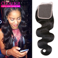 Peruvian Virgin Hair Body Wave Closure 10A Grade Virgin Unprocessed Human Hair 4*4 Lace Closure Miss Lula Hair Body Wavy Hair