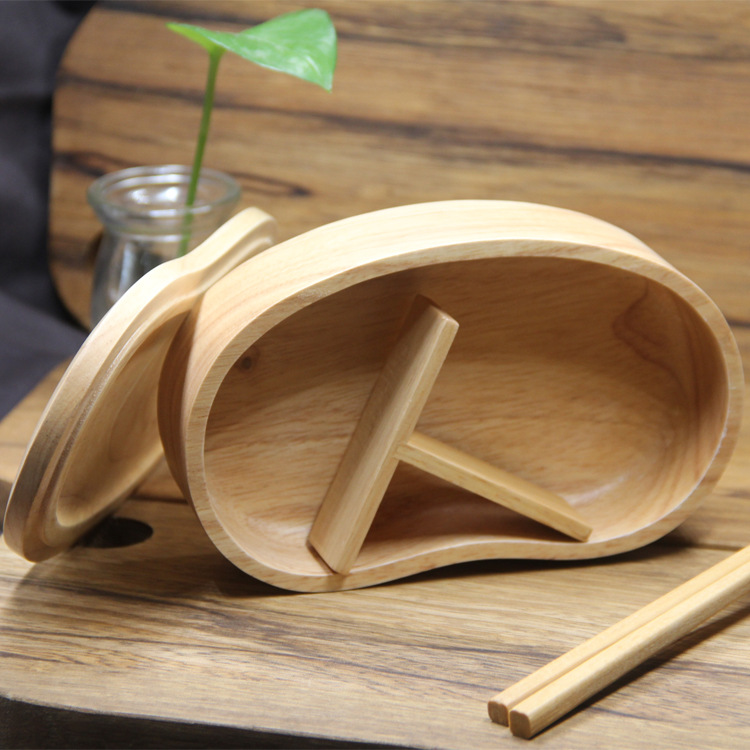 Fashion Japanese Wood Lunch Boxes for Men Bento Flask Container for Food Table Ware Storage Picnic School ...