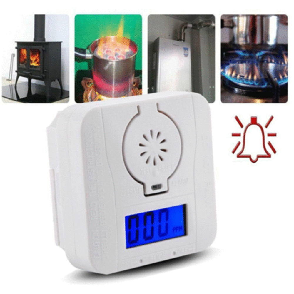 Detector Co-Gas-Sensor Smoke-Alarm Poisoning-Gas Carbon-Monoxide And Combination Lcd-Display title=