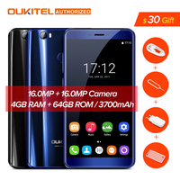 Oukitel U11 Plus 3700mAh Battery Smartphone Android 7 0 MTK6750T Octa Core Mobile Phone Fingerprint 4GB