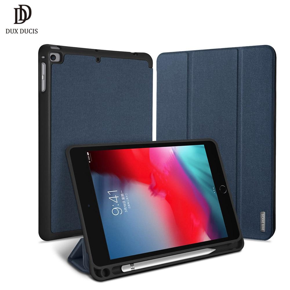 DUX DUCIS Flip Case for iPad Mini 5 2019 Smart TPU + PU Leather Tablet Cover for iPad Mini 5 2019 Mini5 Mini 4 with Pencil slot Tablets & e-Books Case     - title=