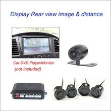 Автомобилей Видео Парковочный Сенсор Обратный Резервный Радиолокатор Assist автопарк Монитор Цифровой Дисплей С 1 Вид Сзади Камера Заднего Вида