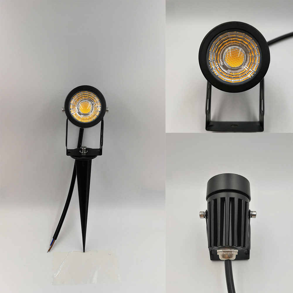 Free shipping MINI outdoor garden light COB led lawn lamp 3W 5W Spike landscape spotlight 12V 110V 220V for yard lighting