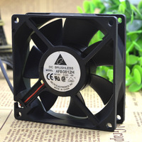 Free Delivery. 8 cm 8025 double ball bearing cooling fan 12 v 0.24 A AFB0812H 2 line