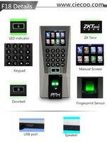F18 посещаемость устройства и контроля доступа отпечатков пальцев + RFID + pin